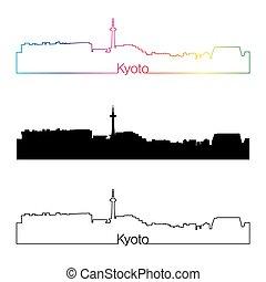 Estilo lineal de Kyoto con arco iris