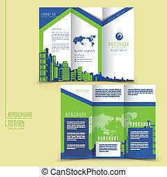 Estilo moderno tri-pliego de folletos para los negocios