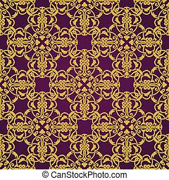 estilo, patrón, musulmán, seamless, amarillo, violeta, árabe, o