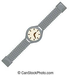estilo, reloj, reloj, esfera, 40s, muñeca, retro, cinturón, diseño, o