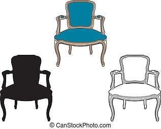 Estilo sillón azul