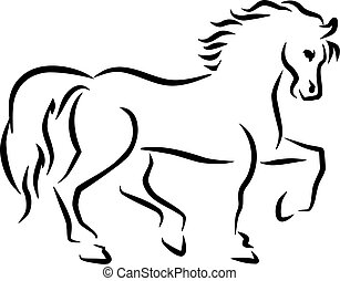 Estilo sketch de caballo