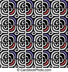 estilo, vector, seamless, geométrico, coloreado, patrón