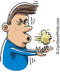 estornudo, caricatura