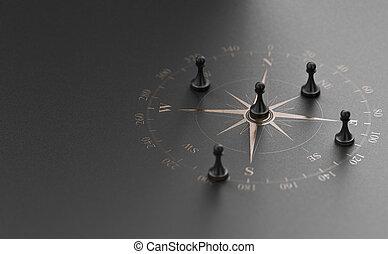 estratégico, concepto, consejo, empresa / negocio