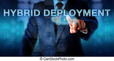 Estratega del Enterprise empujando el departamento de HYBRID