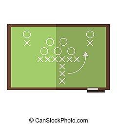 Estrategia de fútbol americano en la pizarra