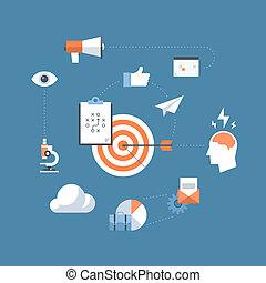 Estrategia de marketing concepto de ilustración plana