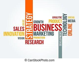 Estrategia de marketing en línea nublada