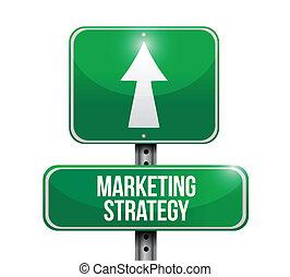 Estrategia de marketing ilustración de signos de carretera