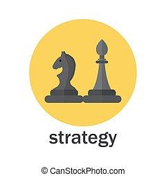 Estrategia de negocios al estilo icono plano
