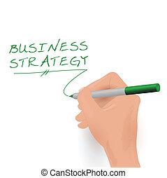Estrategia de negocios, ilustración de vectores