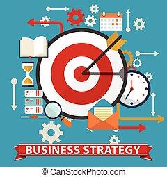 Estrategia de negocios. Ilustración de vectores planos.