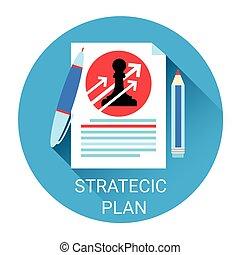 Estrategia planificación de icono económico de negocios