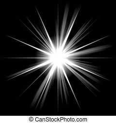 estrella brillante, brillar