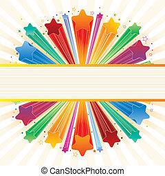 Estrella de explosión colorida