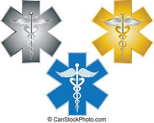 Estrella de la vida, un símbolo médico ilustrado