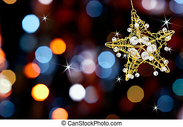 Estrella de Navidad con luces