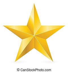 Estrella de oro brillante