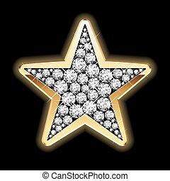 Estrella en diamantes