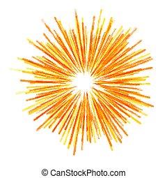 estrella, explosión, amarillo, fireworks., resumen, halftone