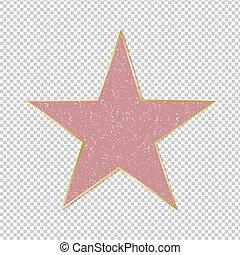 Estrella famosa de fondo transparente