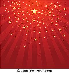 Estrella fugaz de Navidad