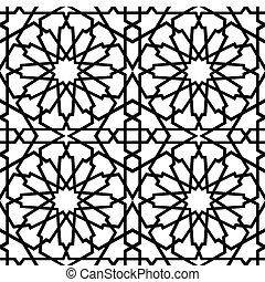 Estrella islámica azulejo BW