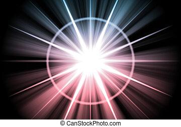 estrella púrpura, resumen, sunburst