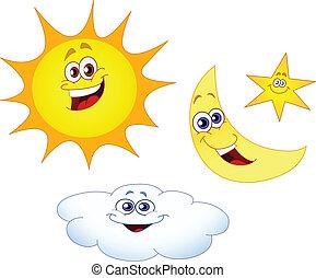 Estrella solar y nube