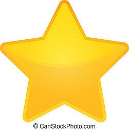 Estrella vectorial dorada