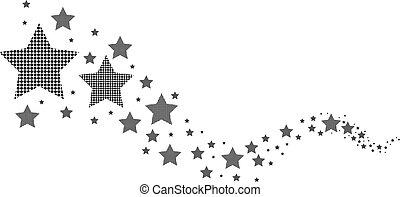 Estrellas blancas y negras