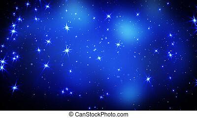 Estrellas brillantes en el fondo azul