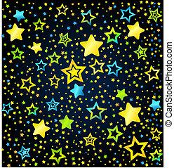 Estrellas coloreadas de cartón