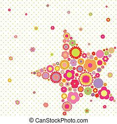 Estrellas coloridas de verano de primavera