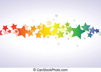 Estrellas coloridas empapeladas