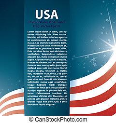 Estrellas de bandera de EE.UU. y antecedentes abstractos