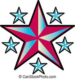 Estrellas de diseño de tatuajes arte clip