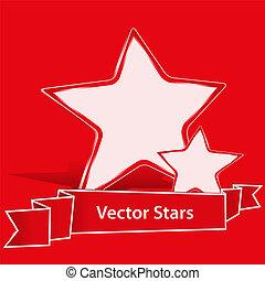 Estrellas de vector rojo