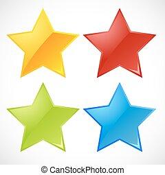 Estrellas de vectores coloridas