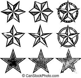 Estrellas del vector grunge