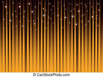 Estrellas en un fondo rayado de oro