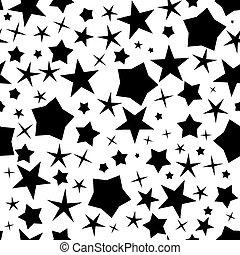 Estrellas negras sin marcas