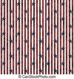 Estrellas patrióticas y tejidos a rayas