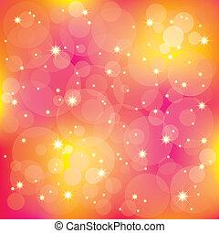 Estrellas resplandecientes iluminan los colores