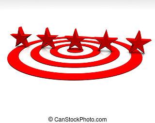 Estrellas rojas de fondo blanco