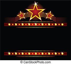 Estrellas sobre el espacio
