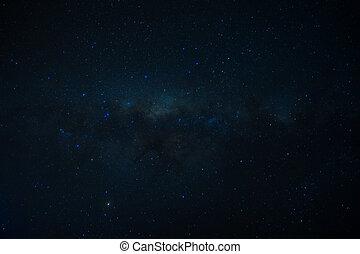 estrellas, universo, nebulosa, llenado, galaxia