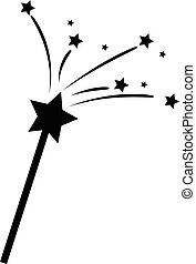 estrellas, varita mágica