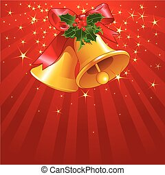 Estrellas y rayas con B de Navidad